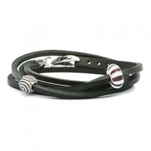 Leather Bracelet, Black, Without Lock