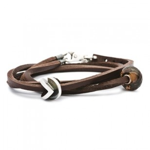 Leather Bracelet, Brown, Without Lock