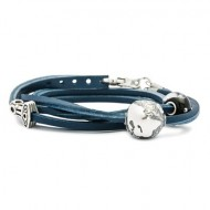 Leather Bracelet, Blue, Without Lock